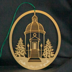 Gold-plated brass ornament