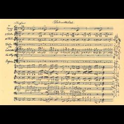 Postcard musical notation