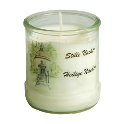 Glass candle small print