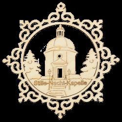 Wooden ornament decor 9 cm